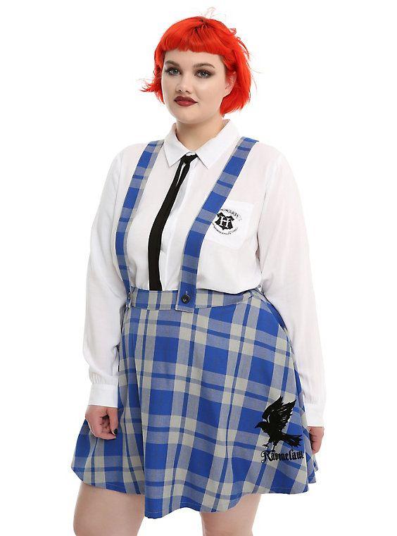c8f12af83 Harry Potter Ravenclaw School Skirt Plus Size, MULTI Blue Plaid Skirt, Plaid  Skirts,