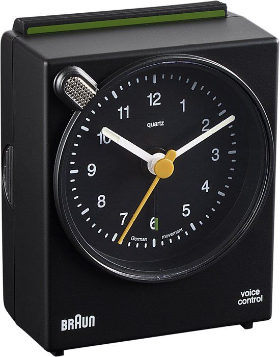 Amazon Com Braun Bnc004bkbk Classic Analog Quartz Alarm Clock Braun Watches Braun Alarm Clock Alarm Clock Classic Clocks