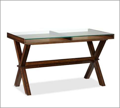 Ava Glass Display 52 Wood Desk Wood Desk Metal Desks Traditional Desk