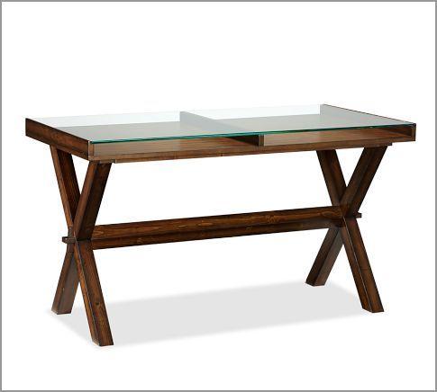 Ava Glass Display 52 Wood Desk Wood Desk Metal Desks