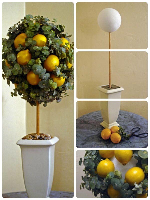 Make A Lemon And Eucalyptus Topiary Lemon Lemon Kitchen