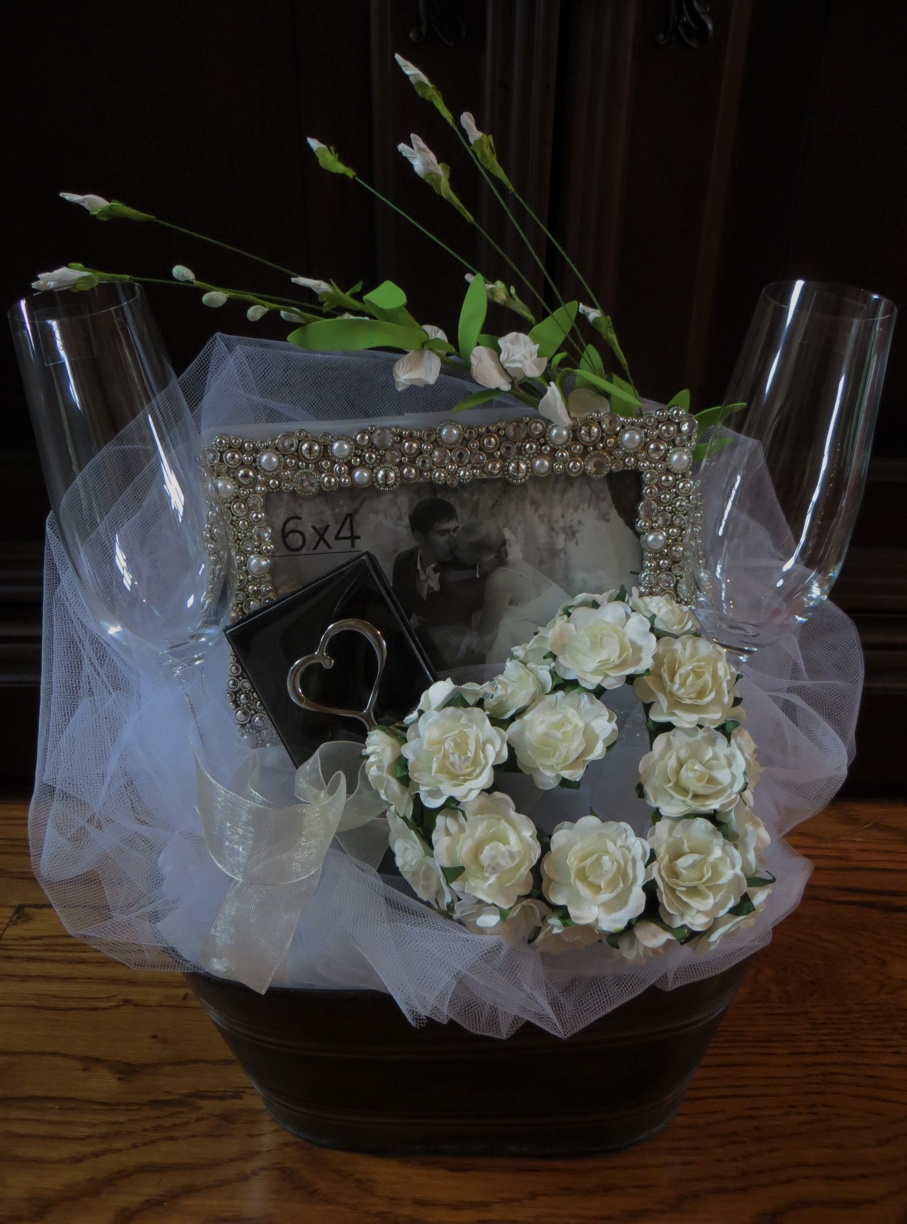 This Elegant Wedding Gift Basket Is The Perfect Way To Send Your