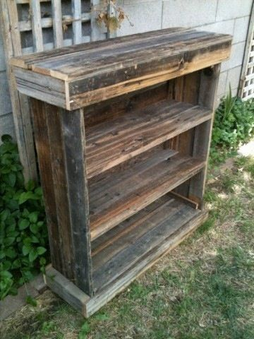 Rustic Barnwood Dvd Rack Tv Stand Book Shelf Full Back