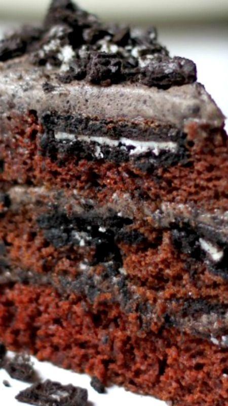 Triple Layer Chocolate Oreo Cake Recipe Oreo frosting Chocolate