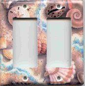 Seashell Double GFI Rocker Switchplate Cover 101