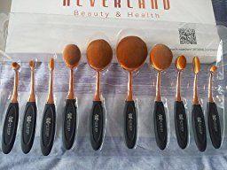 7be5268d0da6 Oval Makeup Brushes ,Neverland Professional 10 Pieces Makeup Brush ...
