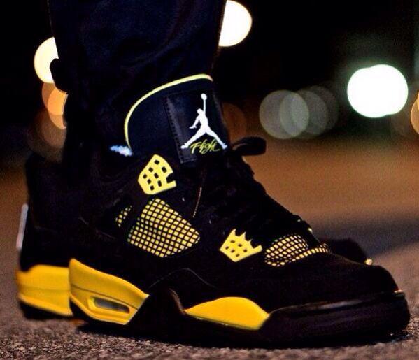 n Yellow   Jordans, Nike shoes