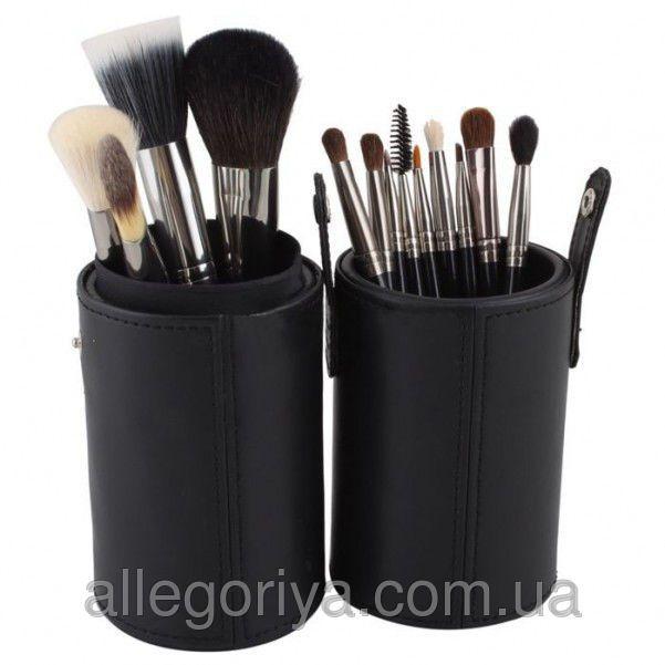 Nabor Kistej Dlya Makiyazha Vizazha Mas 12 Shtuk V Tubuse Cosmetic Brush Set Makeup Brush Set Professional Makeup Set