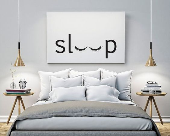 sleep Bedroom Printable Poster Typography Print