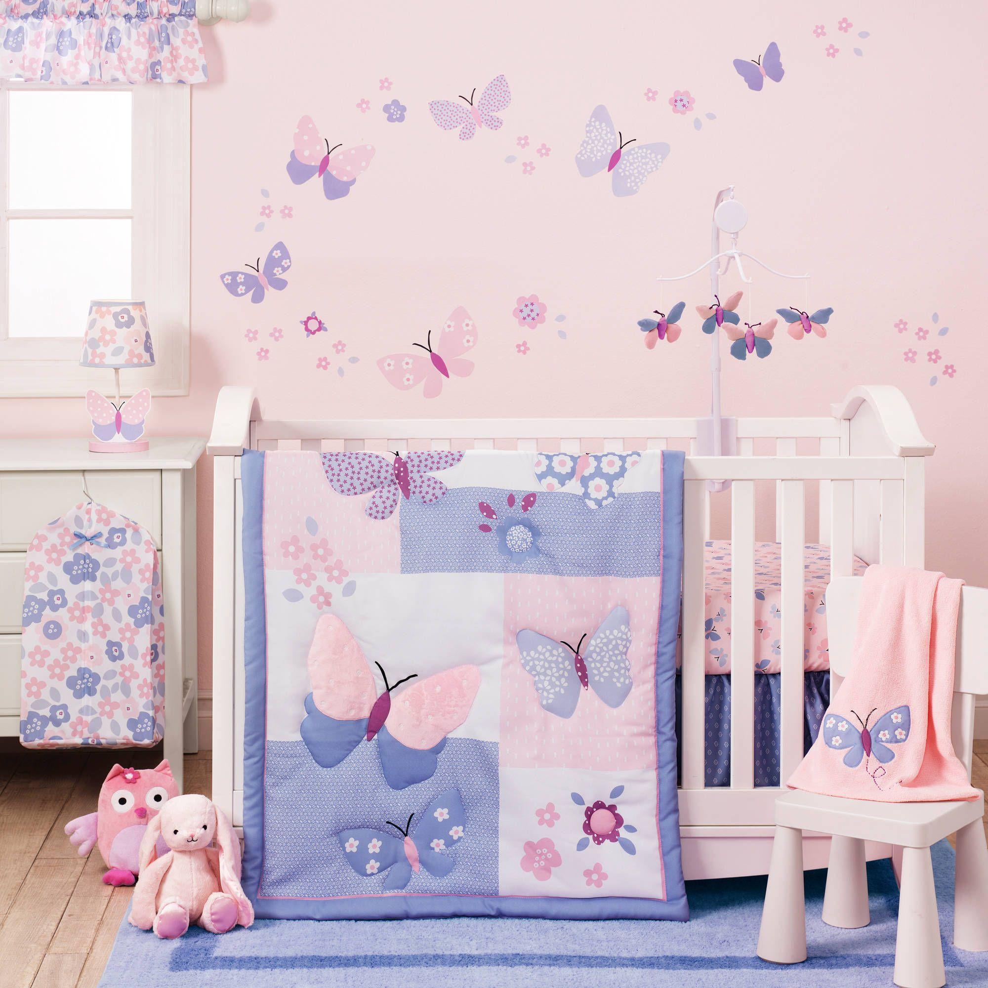 Baby Crib Bedding Girl Butterfly Baby Room Girl Crib Bedding Sets