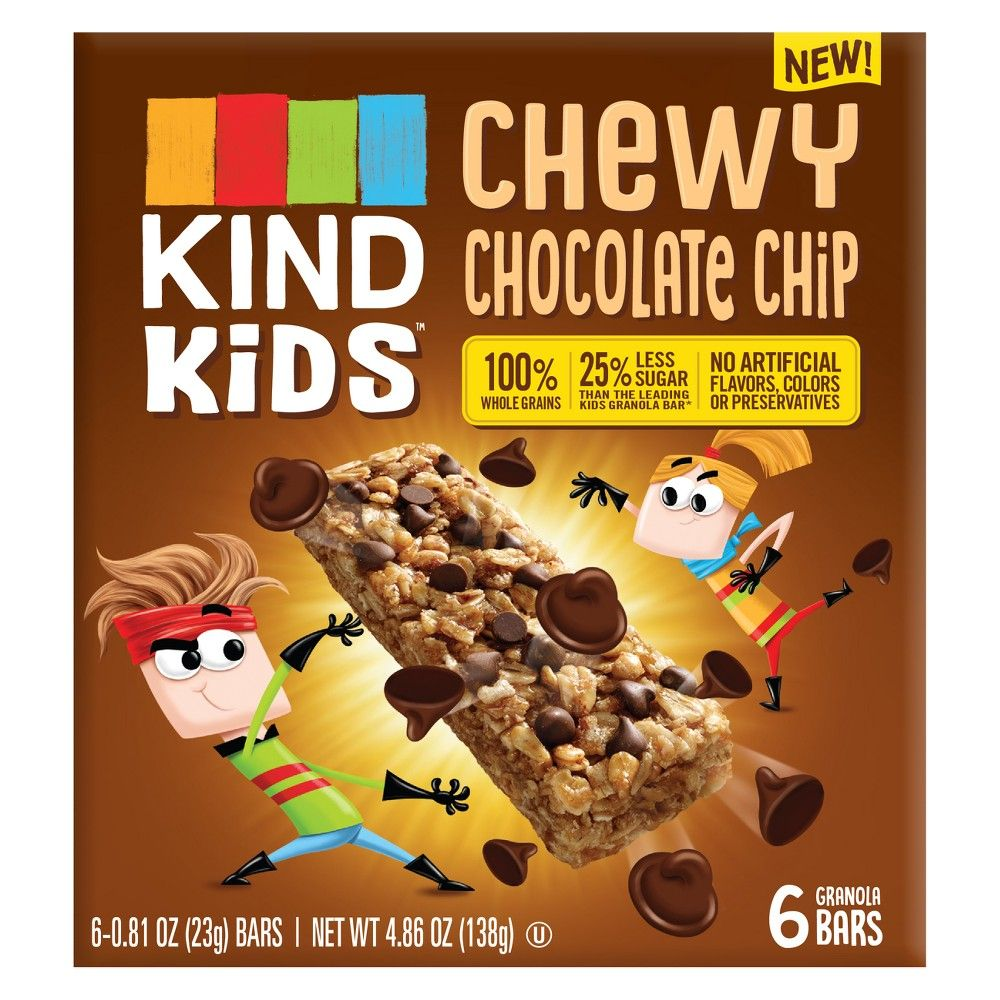 Kind Kid S Chewy Chocolate Chip Granola Bars 4 86oz Chocolate