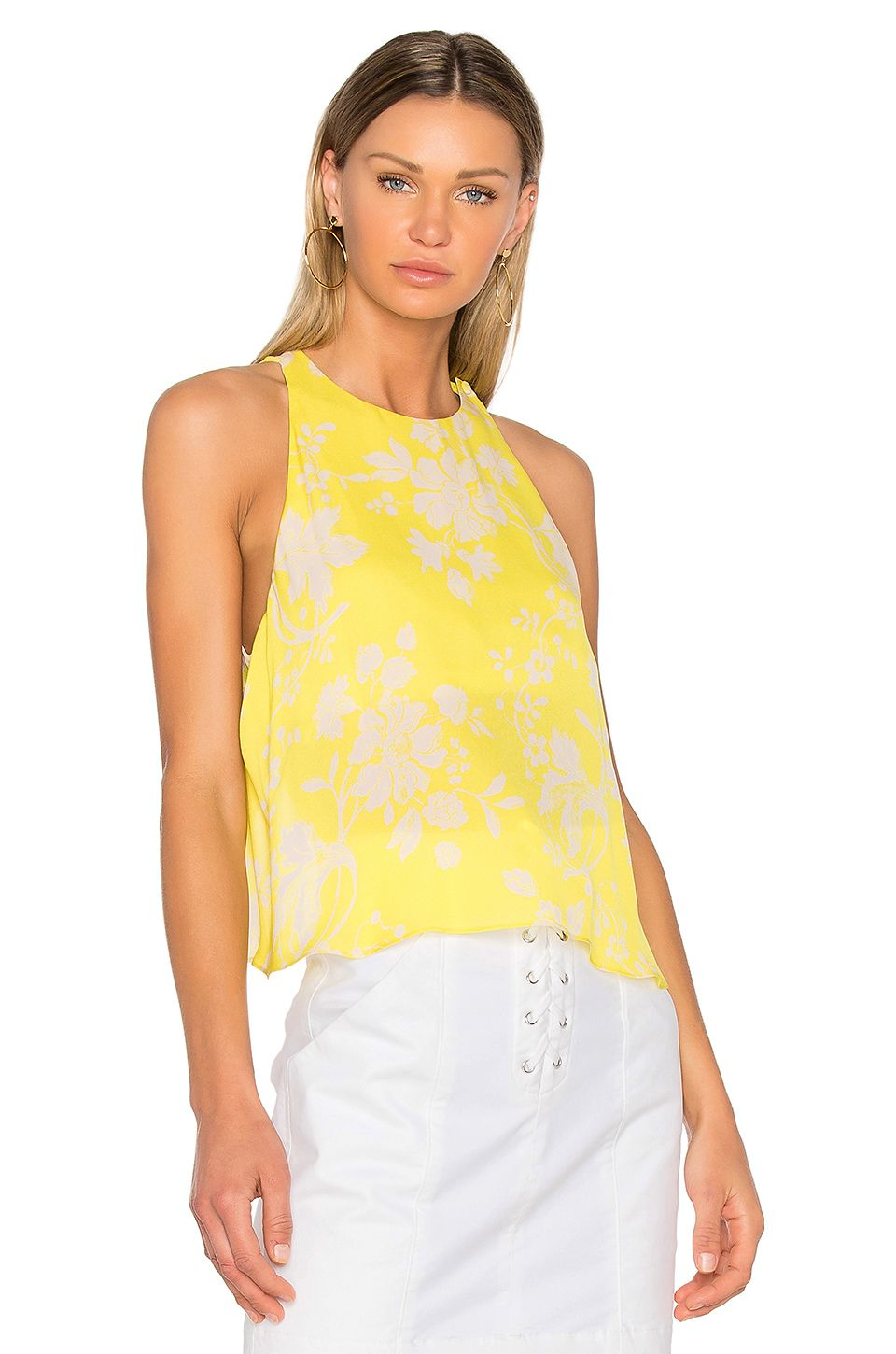A.L.C. Jasper Top in Yellow & Eggshell | REVOLVE