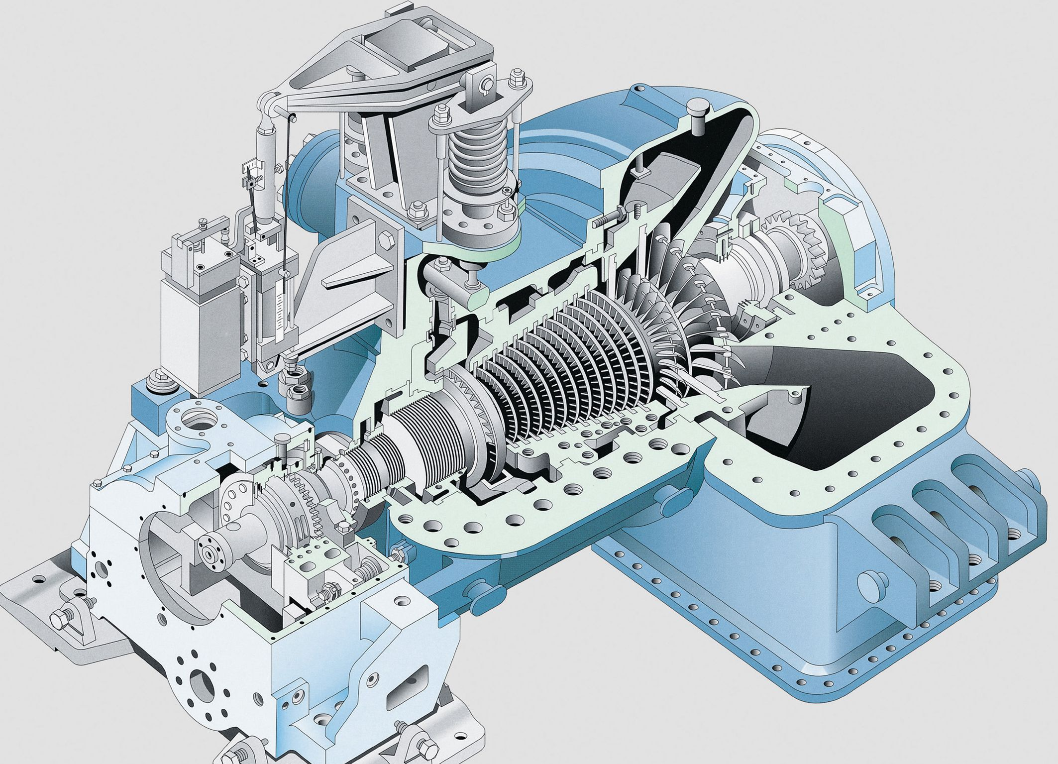Industrial steam turbine steam turbine mechanical