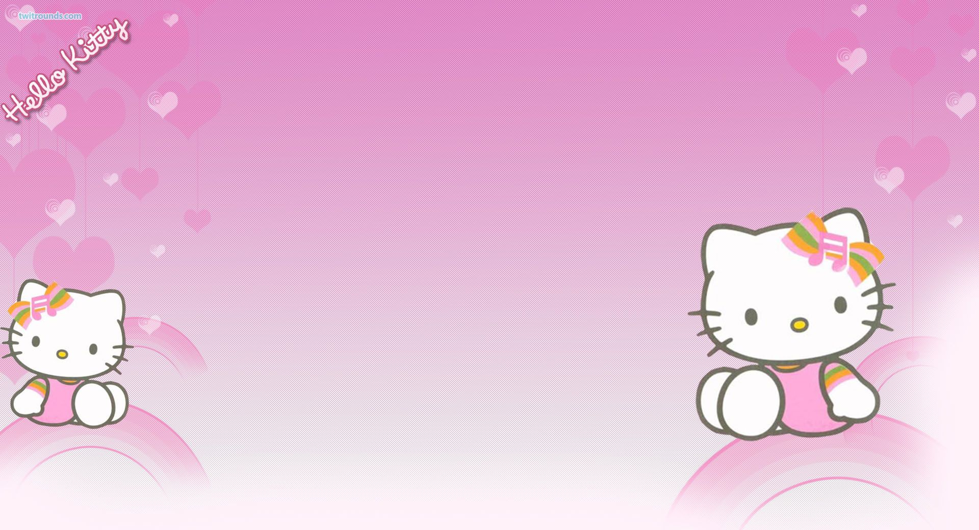 Change Backgrounds Hello Kitty Twitter Background Twitter