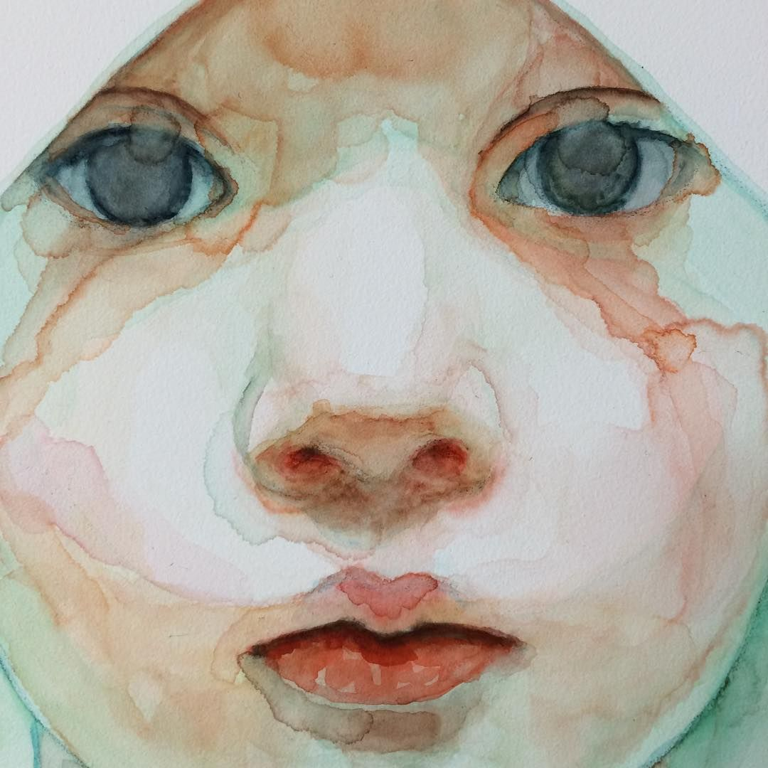 Instagram Watercolor Art Face