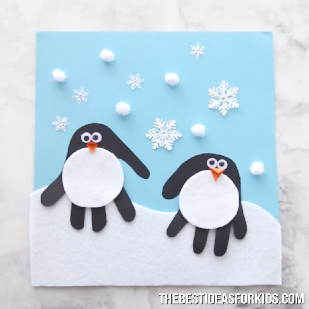 HANDPRINT PENGUIN #craftsforkids