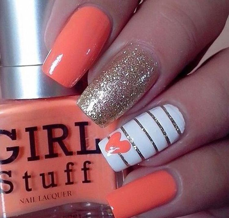 70+ Easy Valentine's Day Nail Art Ideas 2019