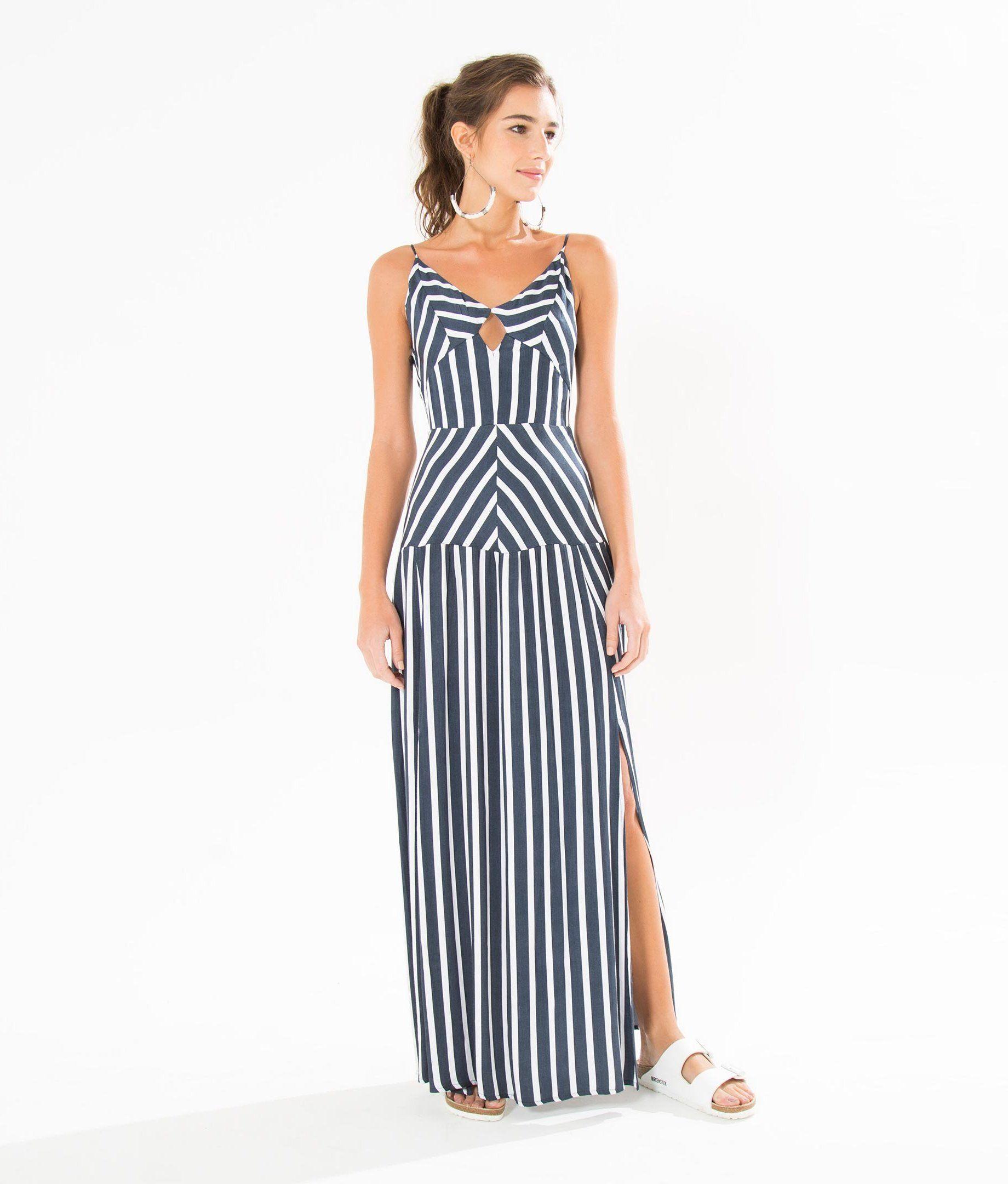 vestido longo listra | Costuras en 2018 | Pinterest | Vestido longo ...