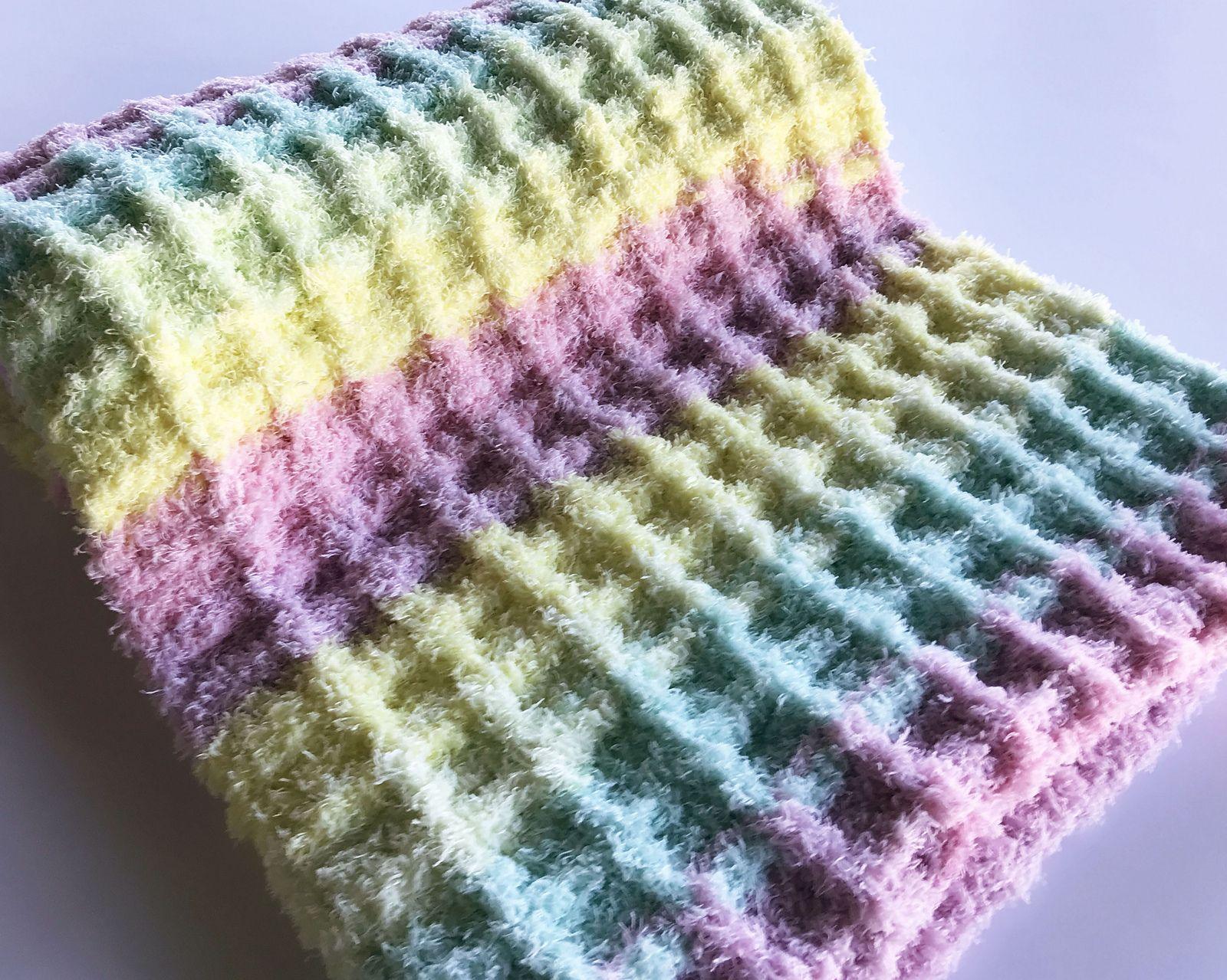 Baby Waffle Blanket By Michael Sellick - Free Crochet ...
