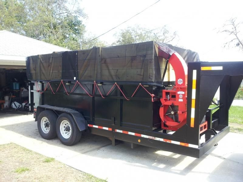 Leaf Vacuum Dump Trailer Lawnsite Dump Trailers Landscape Trailers Trailer