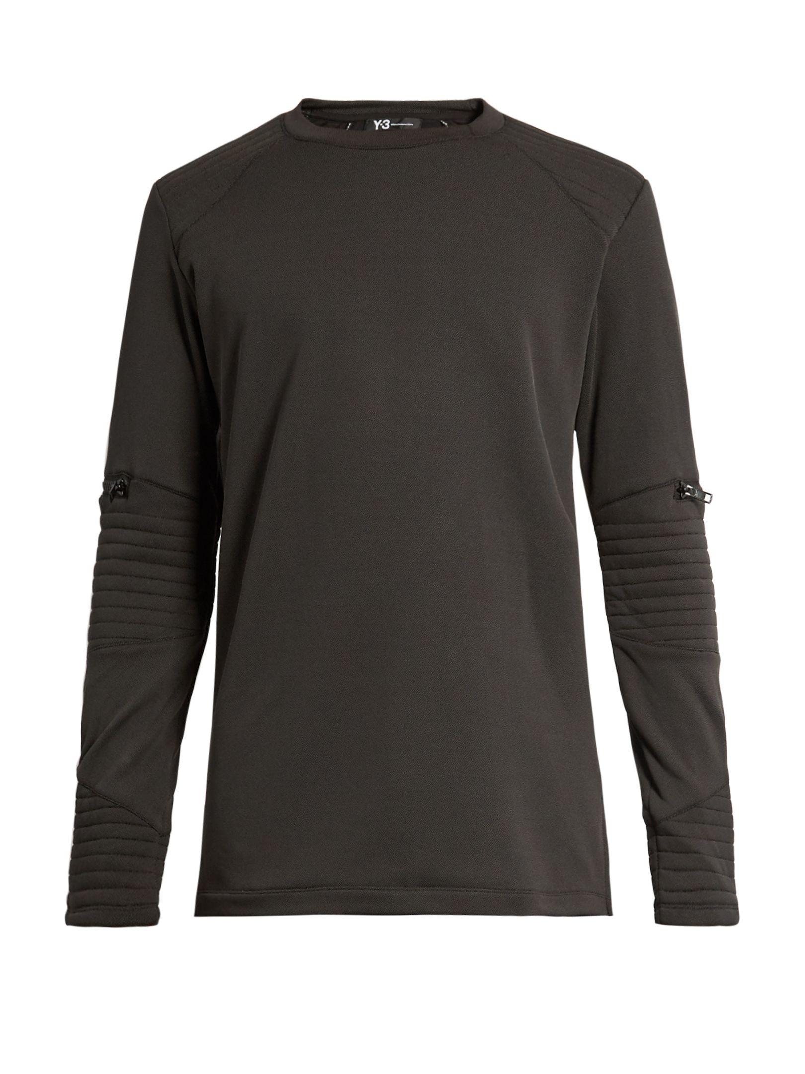 Panelled texturedfleece sweatshirt Y3