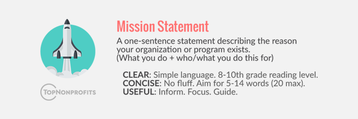 Nonprofit Mission Statements Taglines Mission Statement Mission 10th Grade Reading