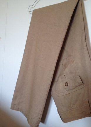 ff6a8974635 Pantalon lin beige Best Mountain taille 36