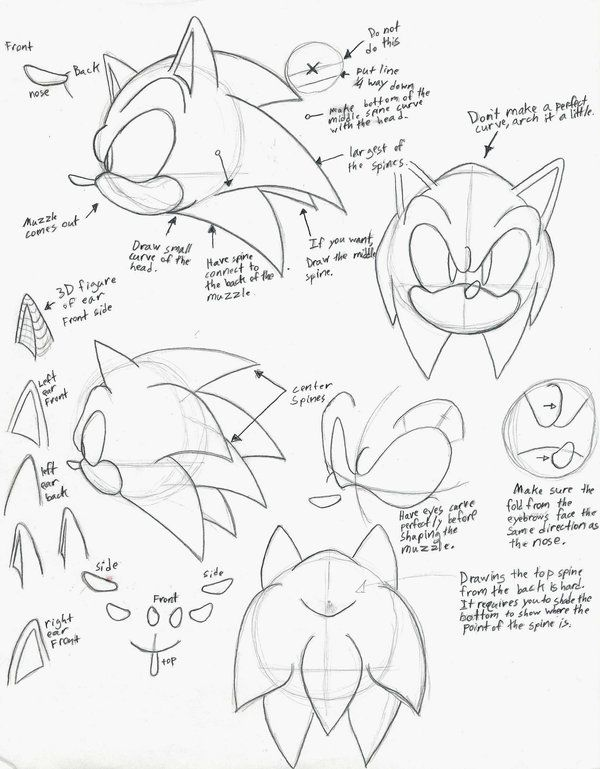 How To Draw Sonic Part 1 By Sonicboom53 On Deviantart How To Draw Sonic Drawings Sonic Fan Art