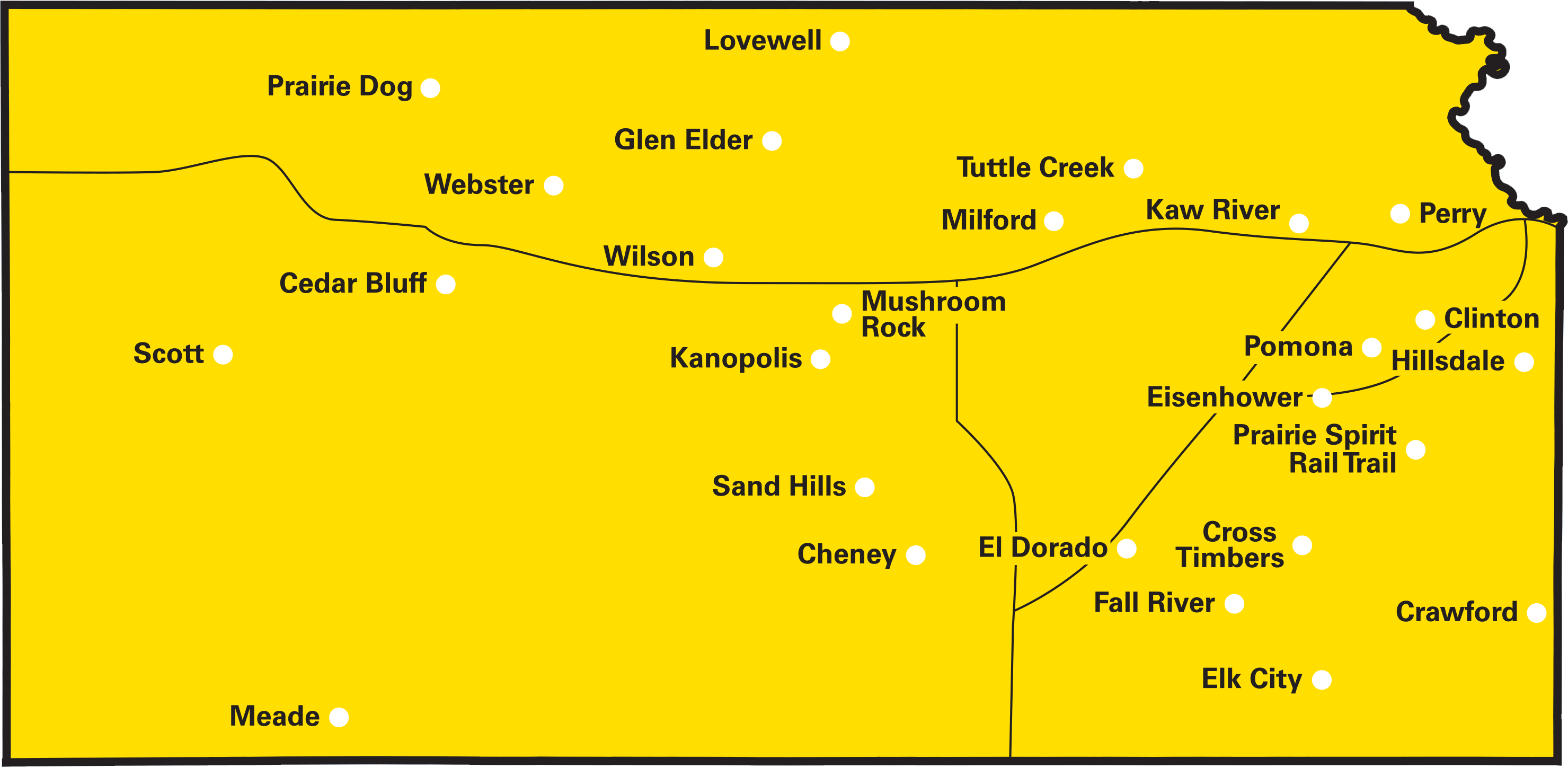 map of kansas state parks | Kansas | Kansas, State parks, Park