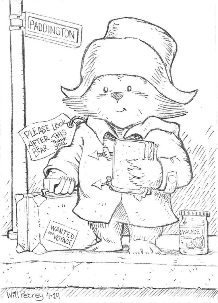 403 Forbidden Paddington bear, Bear drawing, Bear art