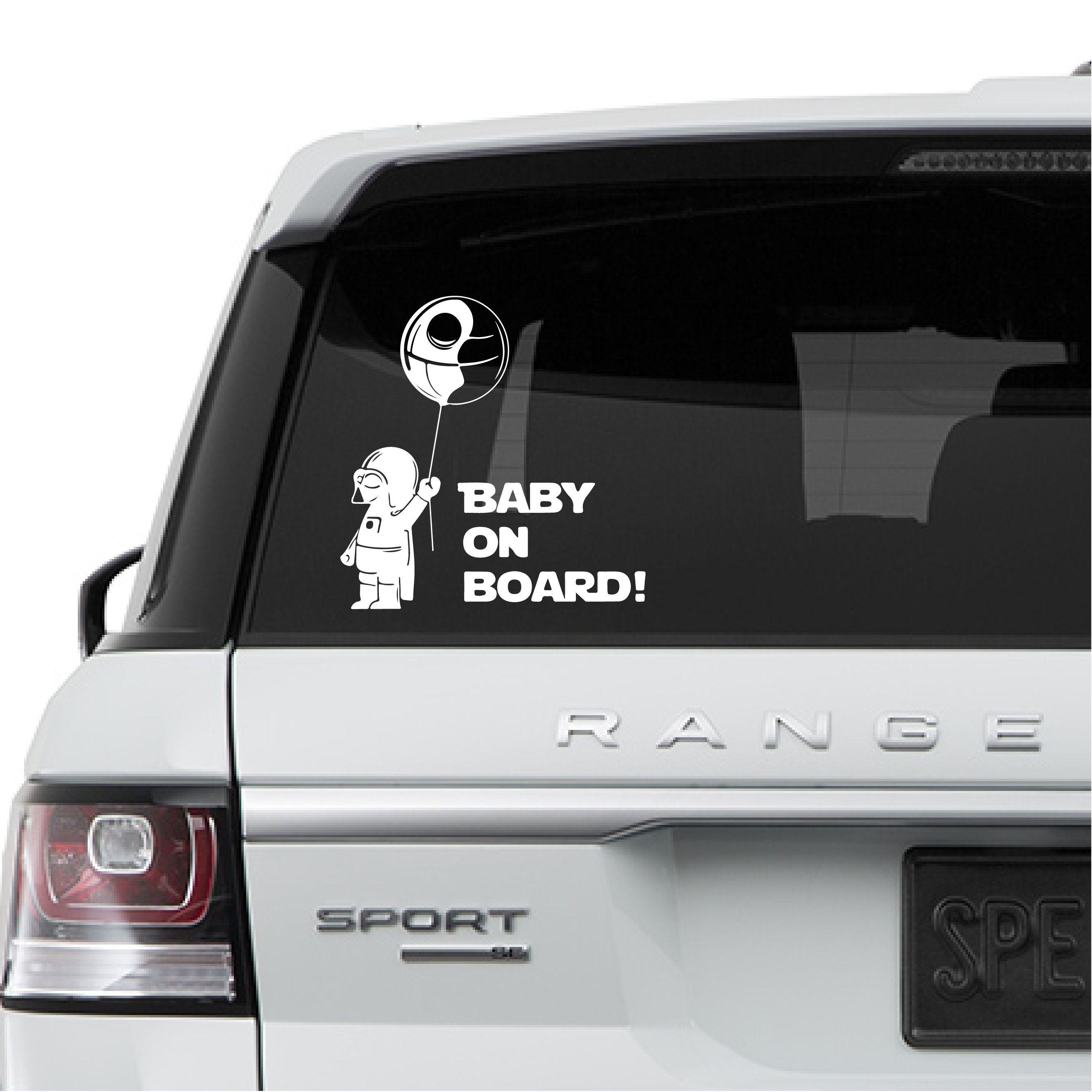 Darth Vader Baby On Board Star Wars Car Vinyl Decal Sticker Star Wars Laptop Wall Childrens Wall Decals Car Decals Vinyl Baby Decals [ 2666 x 2666 Pixel ]