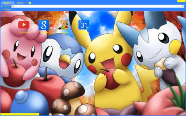 Pokemon Chrome theme Anime Chrome Themes Cute pokemon