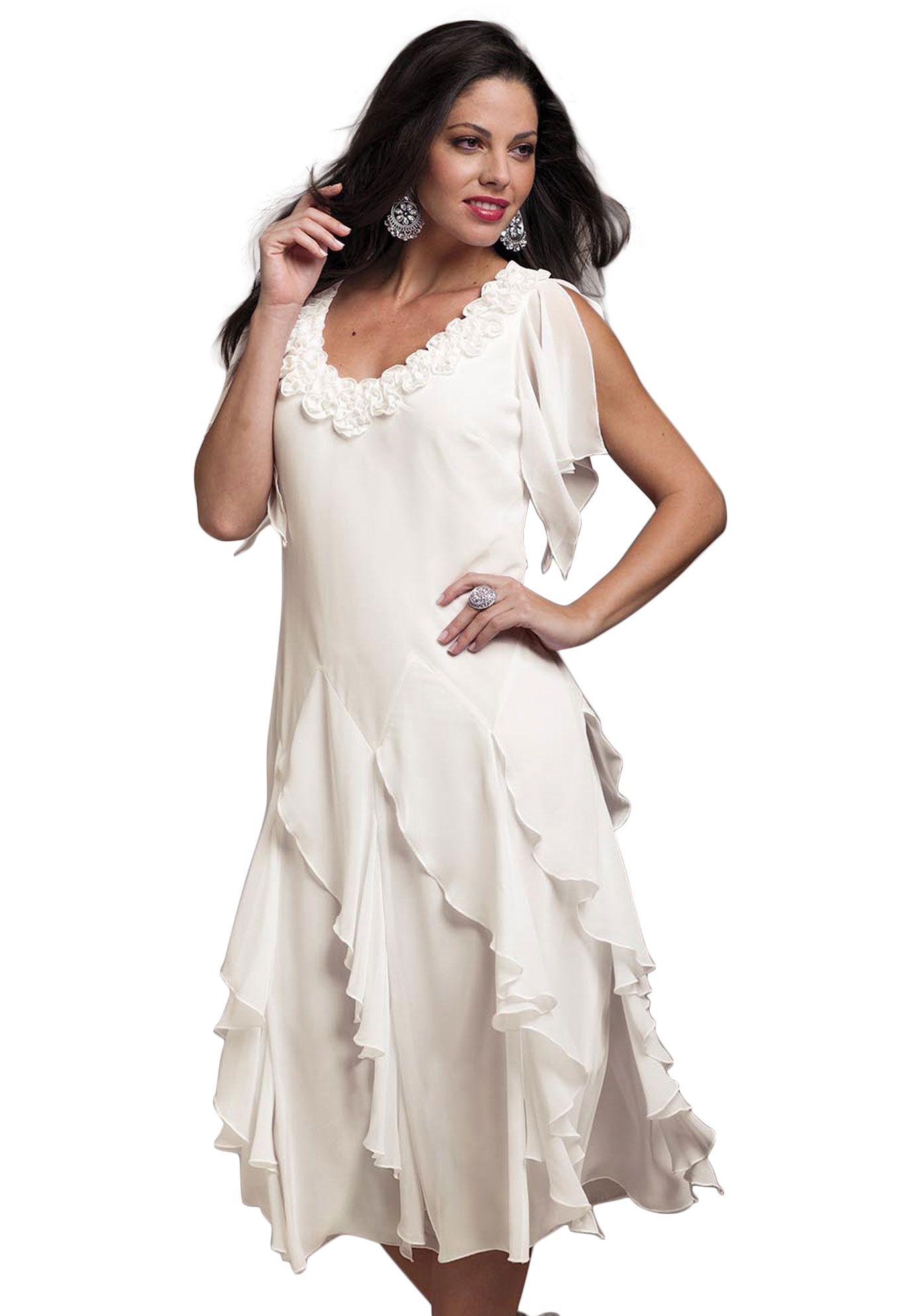 c982311189dd77 Plus Size Clothing: Dresses for Women | Roamans | Dress | Dresses ...