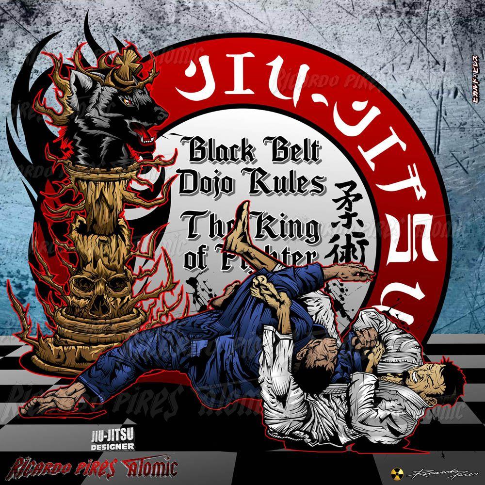 Jiu-Jitsu Designs Jiu-Jitsu Black Belt - Dojo Rules The king