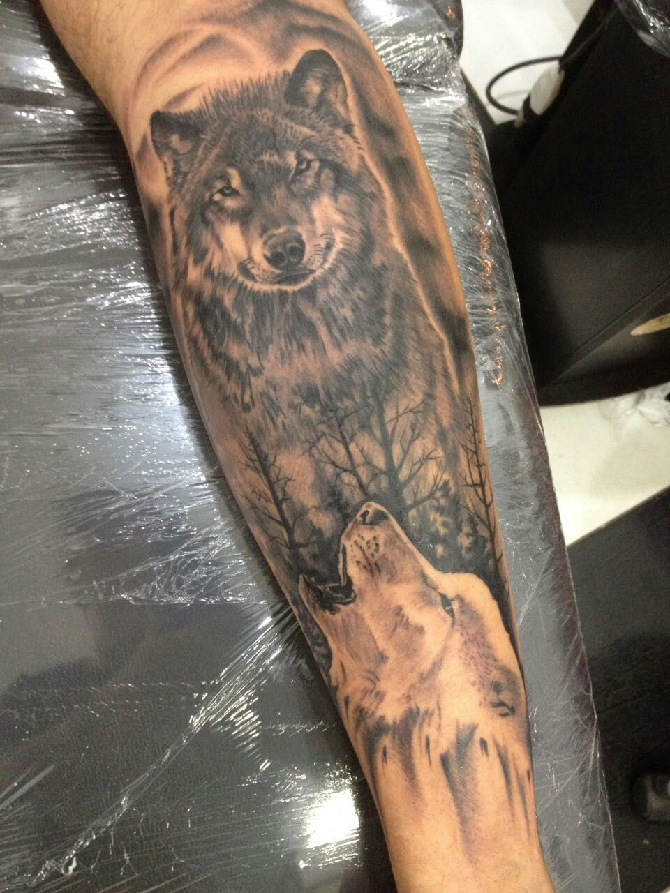 Tattoo Lobo Perna Panturrilha Lobo Tatuagem Tattoos Lobo