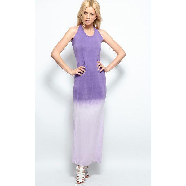 Tina Purple Ombre Maxi Dress ($7.75) ❤ liked on Polyvore ...