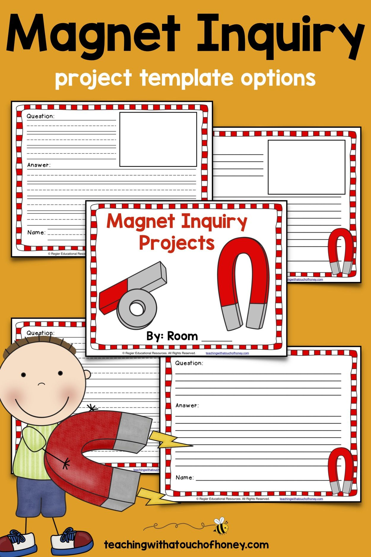 Magnet Inquiry Process Questions and Templates   Kindergarten worksheets [ 1875 x 1250 Pixel ]
