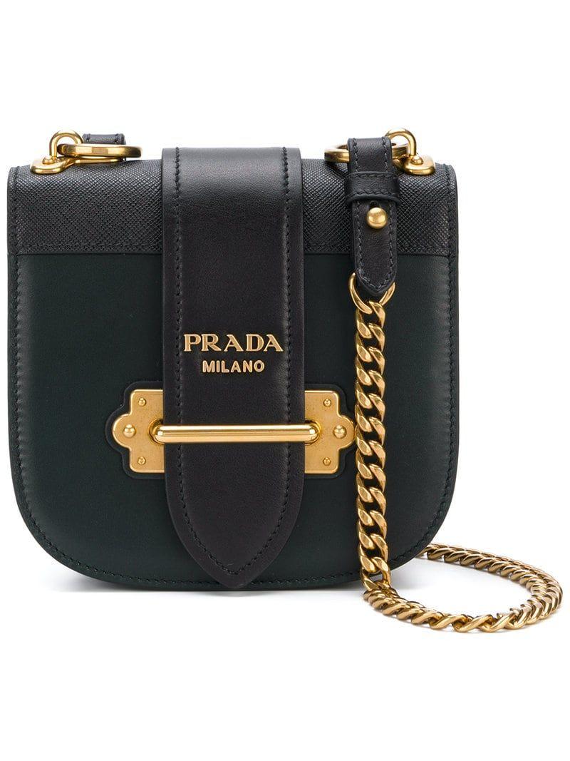 f78e5d90 PRADA MINI CURVED LEATHER CROSSBODY BAG, BLACK   The Bag Lady in ...