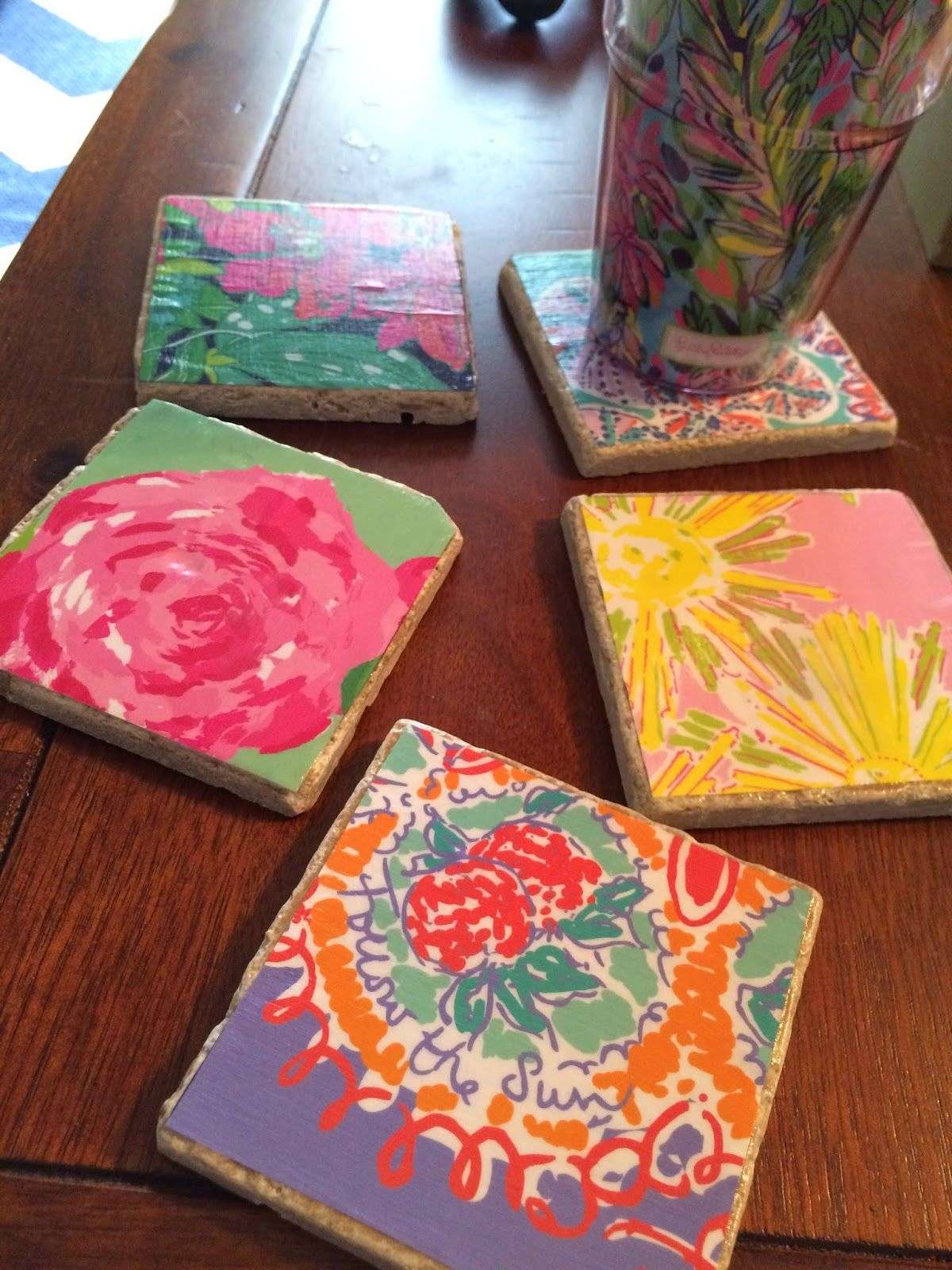 Diy Lilly Pulitzer Coasters From Old Agendas Diy