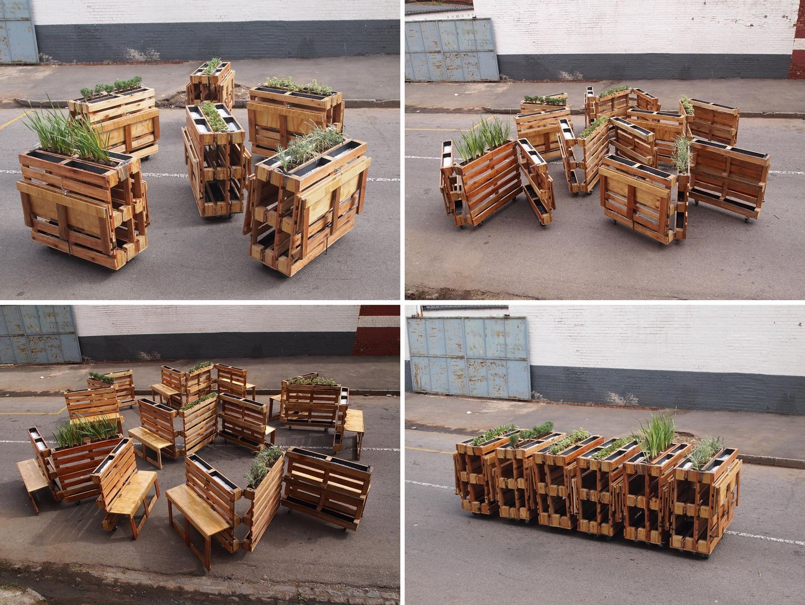 BROTHERS IN BENCHES: URBAN FURNITURE WITH RECYCLED PALLETS ...