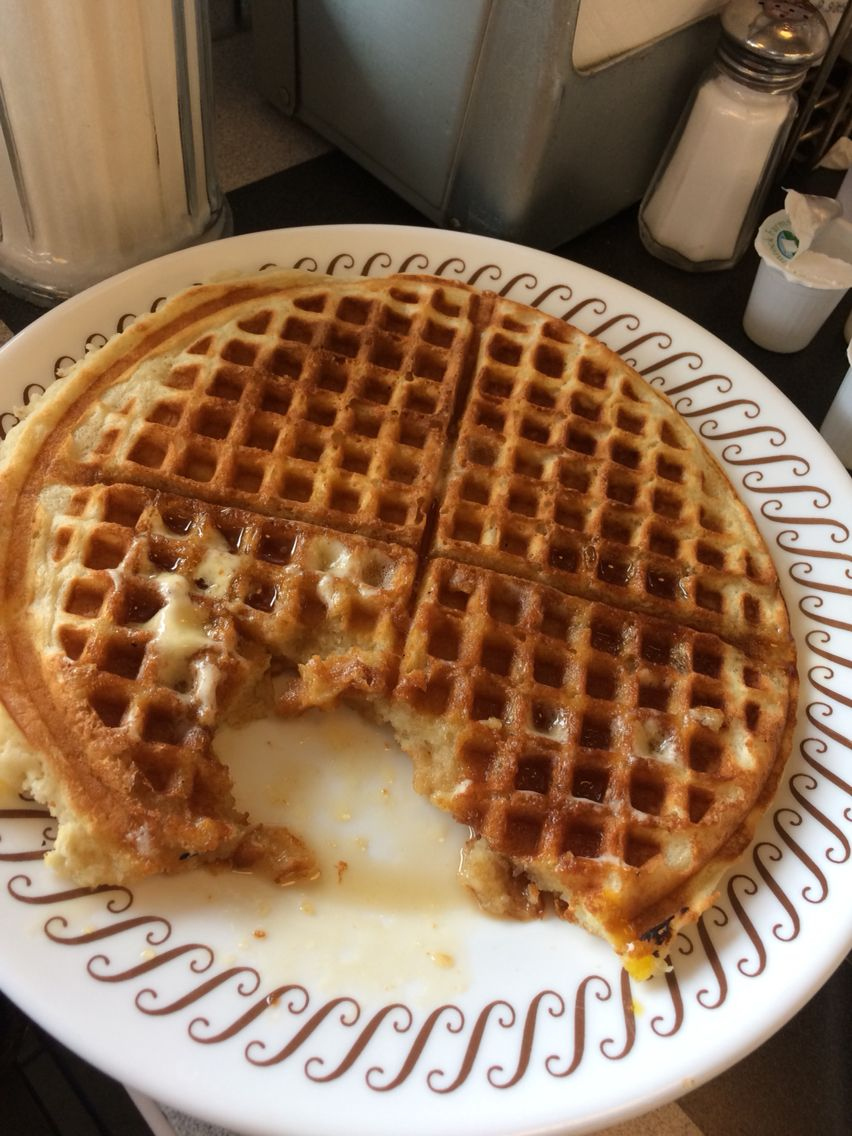 I forgot to post before I ate the waffle. Lol | Restraunts ...