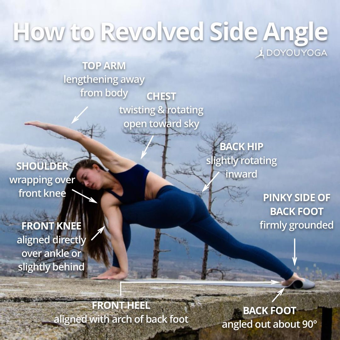 Your Step By Step Guide To This Challenging Pose What Are Your Favorite Cues For Revolved Side Angle Photo By Aweso Yoga Help Yoga Postures Yoga Techniques