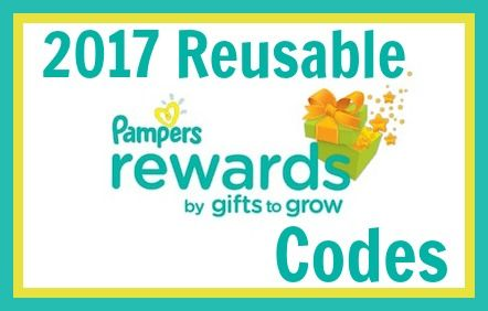 2017 Reusable Pampers Rewards Codes With Images Pampers