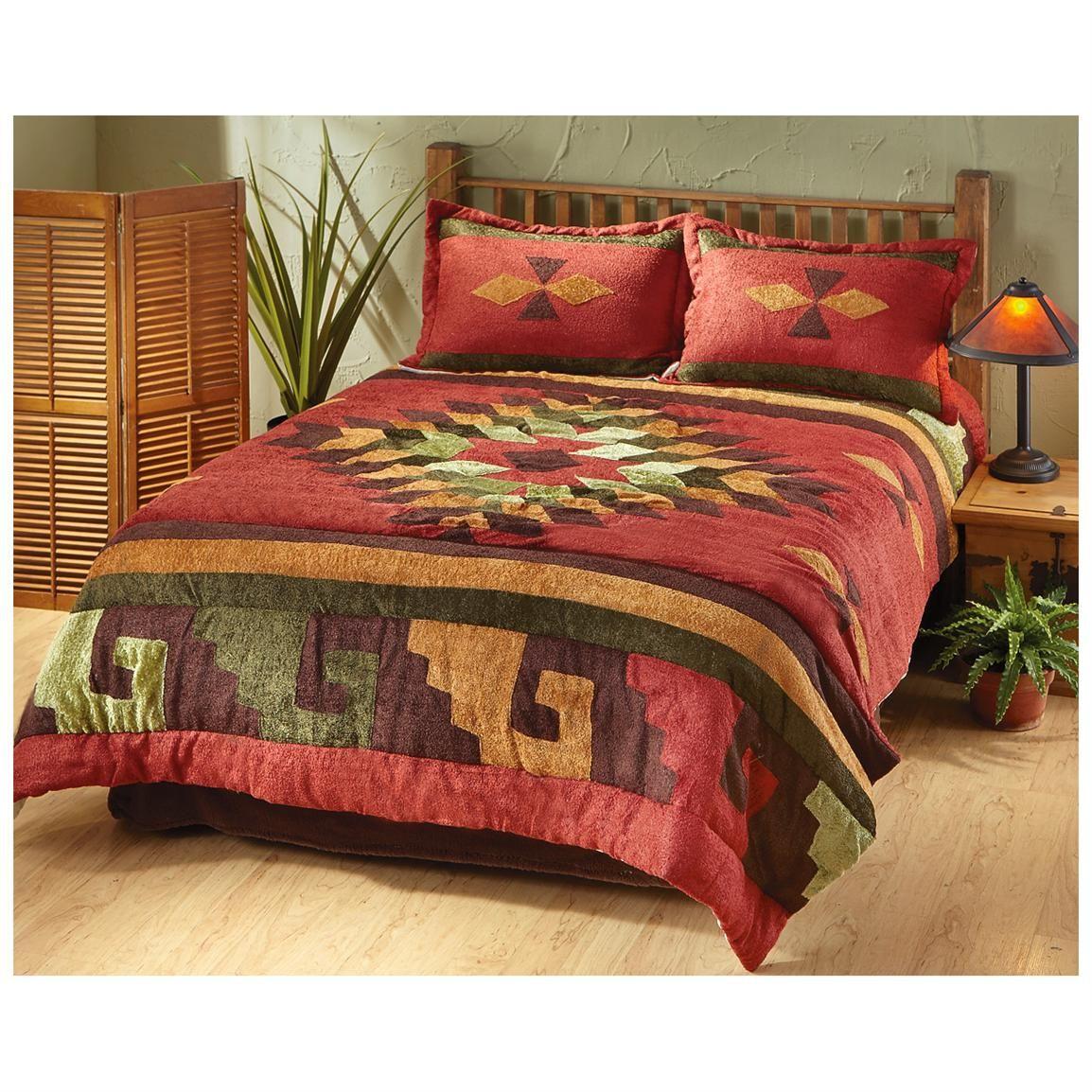 southwest, burgundy comforter set Bing Images (With