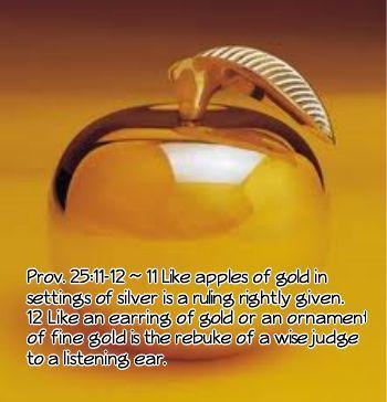 Prov. 25:11-12
