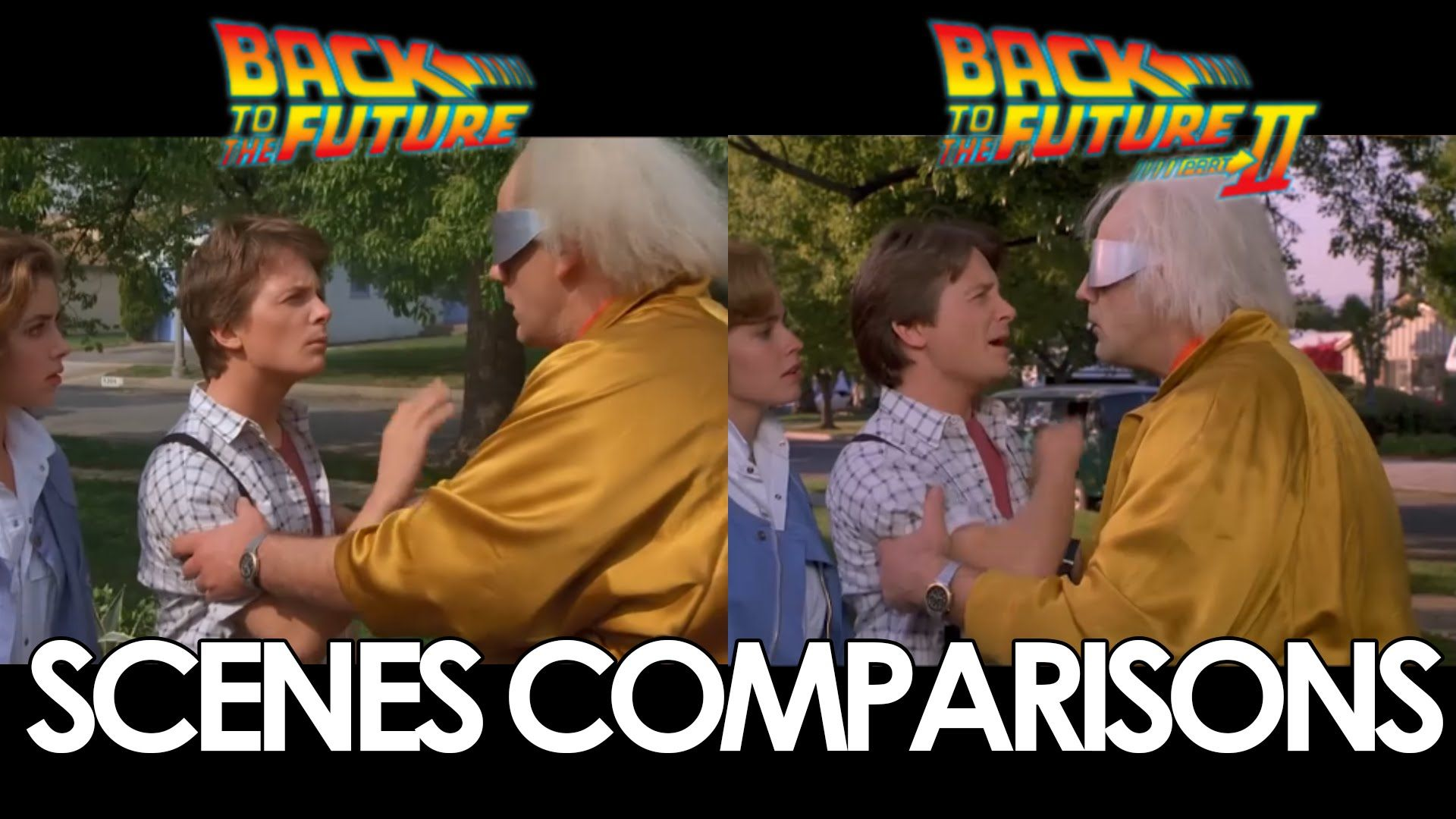 Back To The Future 1 2 Scenes Comparisons With Images Back