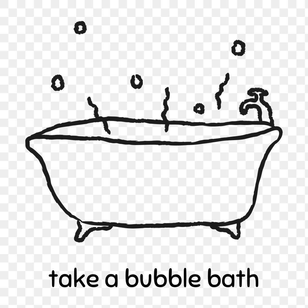 Take A Bubble Bath Doodle Style Design Element Free Image By Rawpixel Com Marinemynt Design Element Doodles Bubble Bath