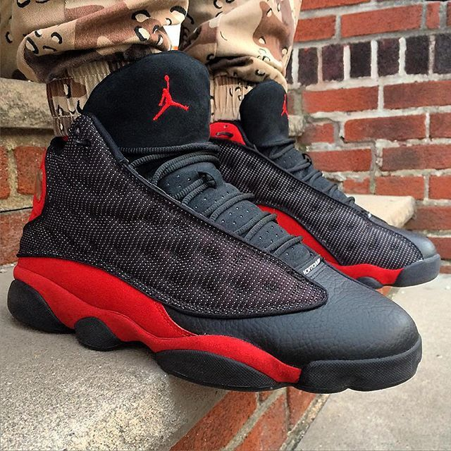 6bc0c4deb05 Air Jordan 13 'Bred' 📷: @seenmorekicks #WDYWT for on-feet photos  #WDYWTgrid for outfit lay down photos #mensfashion #kotd #Nike #AirJordan # Bred ...