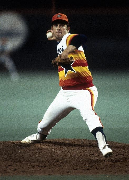 Photo of July 4, 1980 Nolan Ryan fans Ceasar Geronimo to record his 3000th career strike …