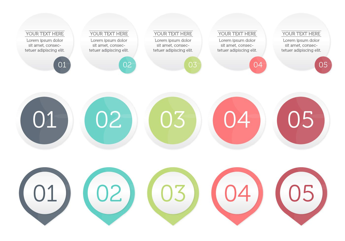bullet points vector perfect for your infographic or presentation